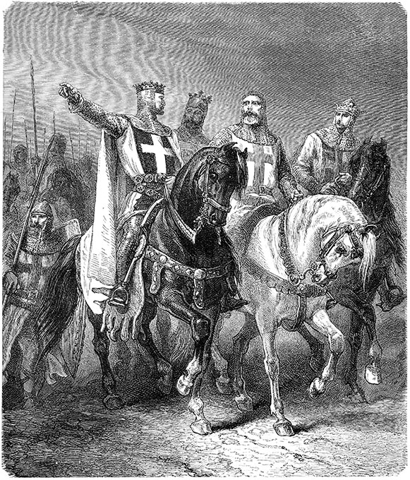 Black and White Image of Crusades in Europe | MCI 911