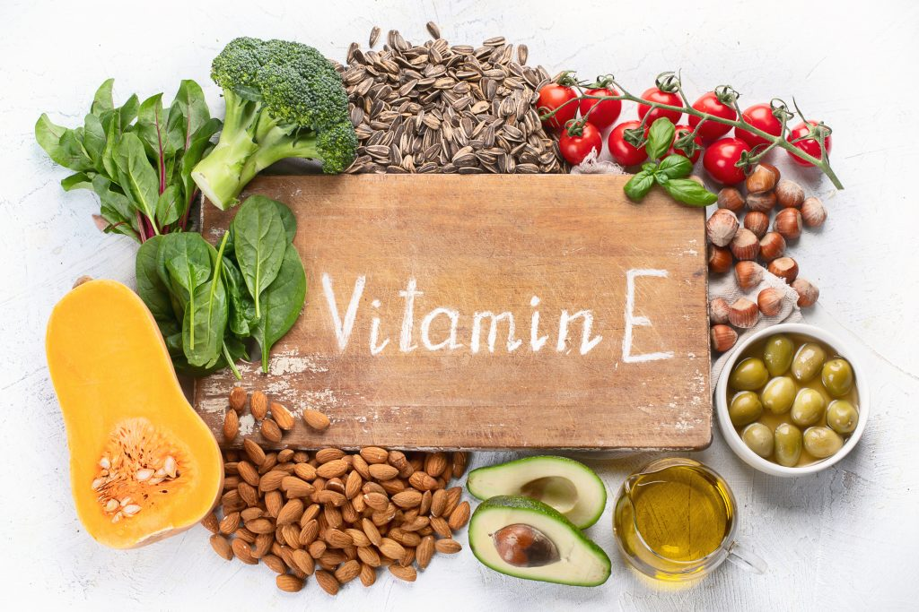 Assorted foods rich in Vitamin E | Vitamin E can add value to brain health article MCI 911